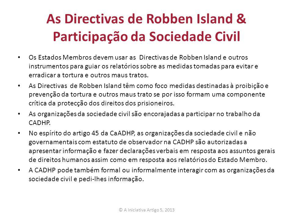 As Directivas de Robben Island & Participação da Sociedade Civil