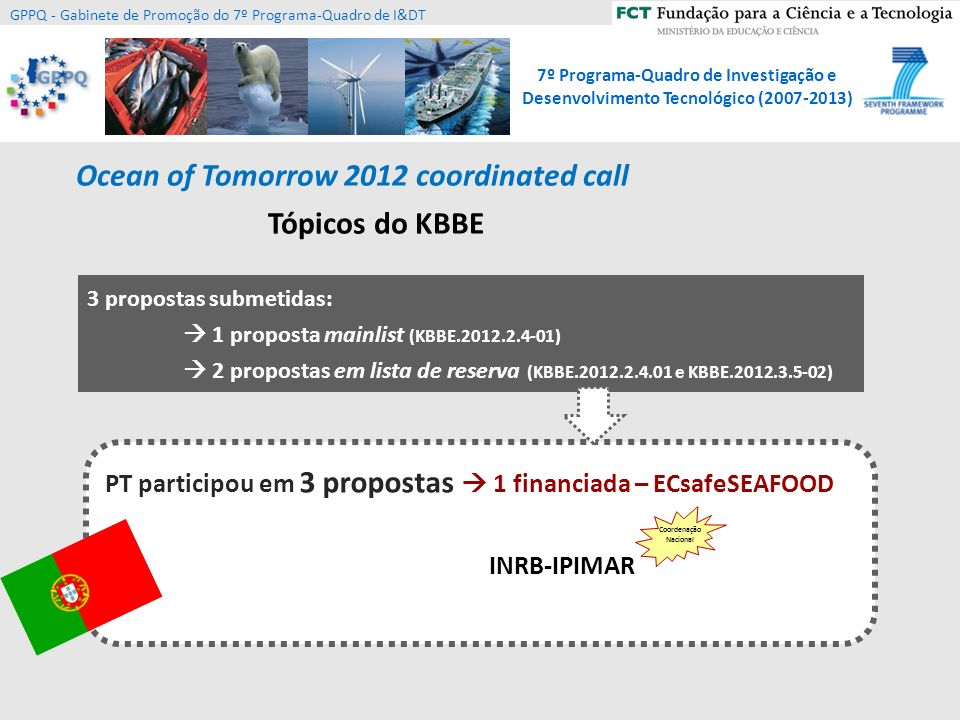 Ocean of Tomorrow 2012 coordinated call Tópicos do KBBE