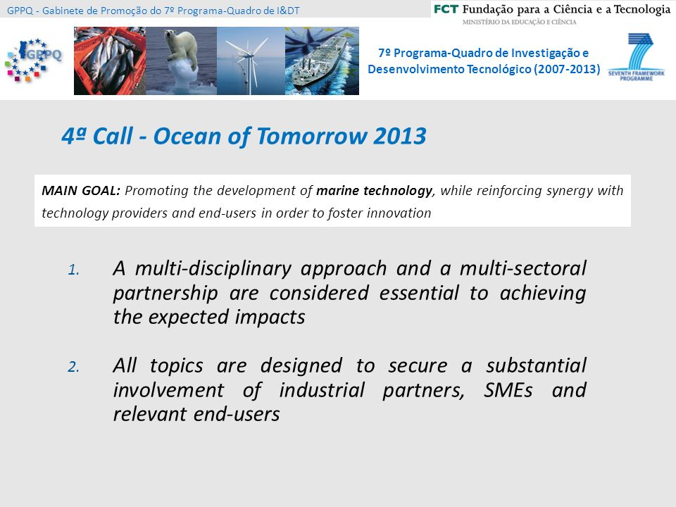 4ª Call - Ocean of Tomorrow 2013