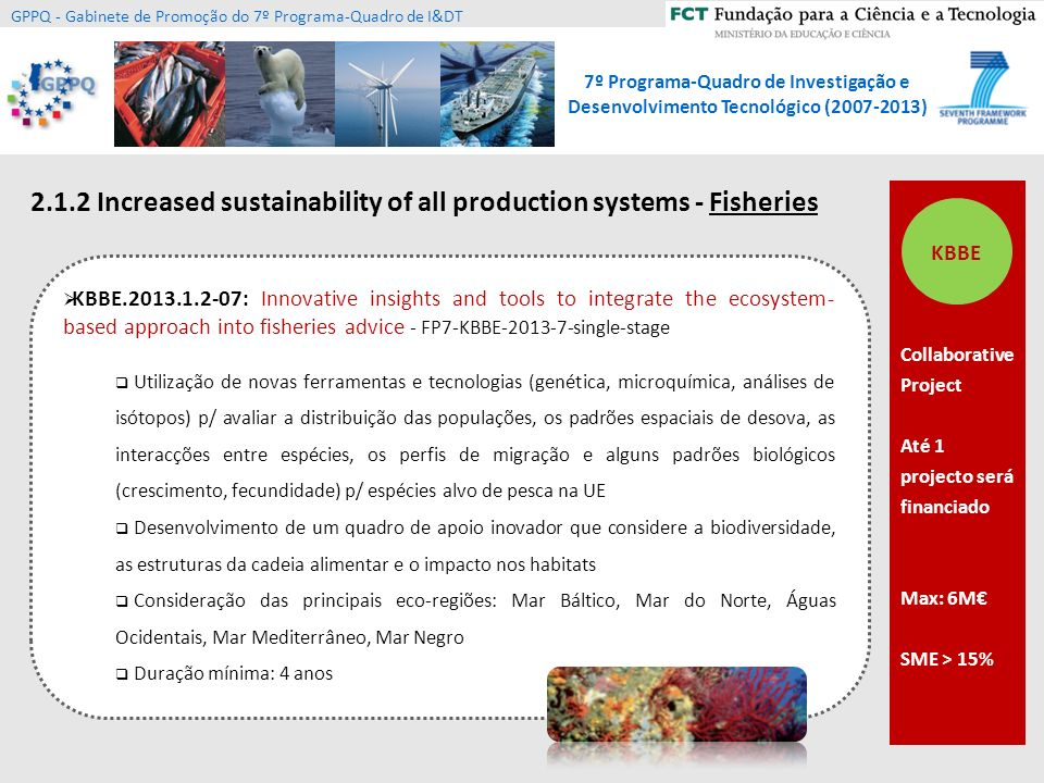 2.1.2 Increased sustainability of all production systems - Fisheries