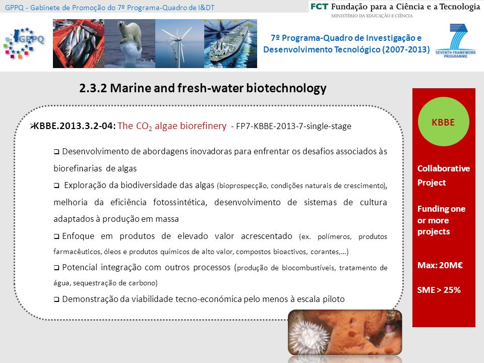 2.3.2 Marine and fresh-water biotechnology