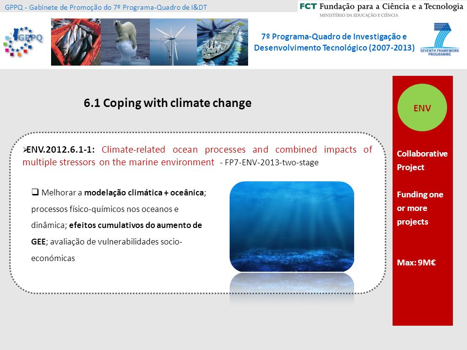 6.1 Coping with climate change