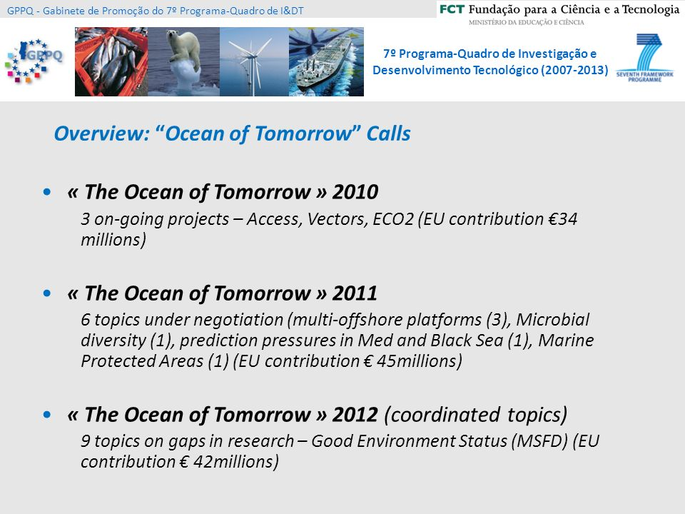Overview: Ocean of Tomorrow Calls