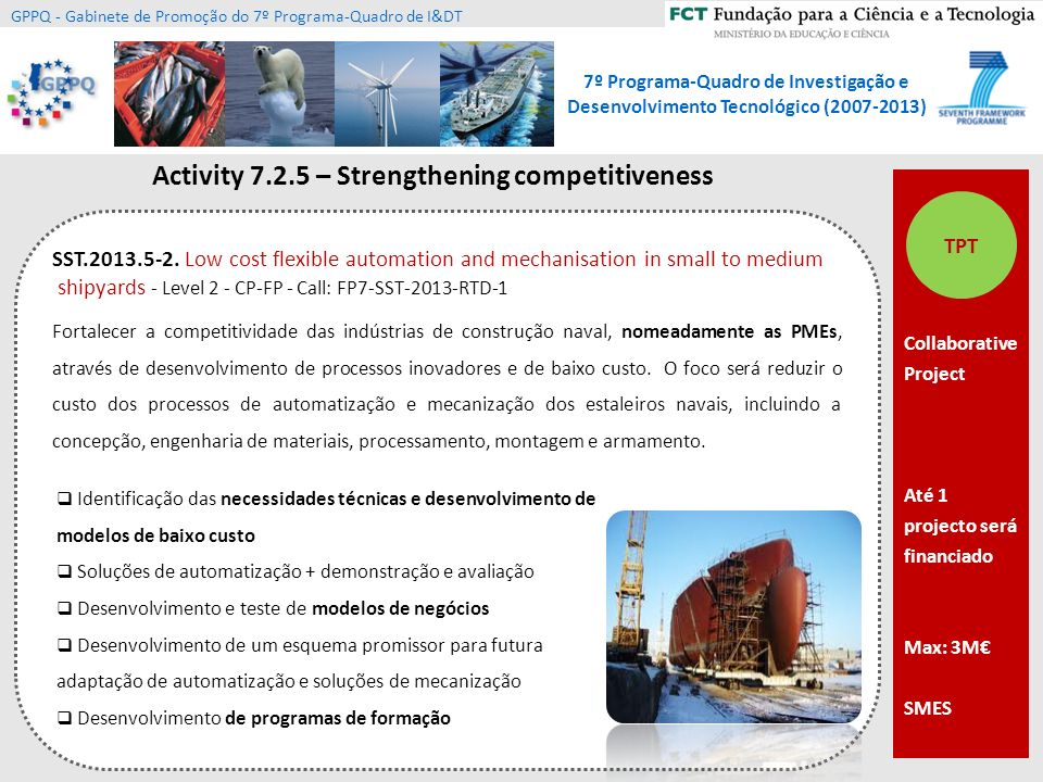 Activity 7.2.5 – Strengthening competitiveness