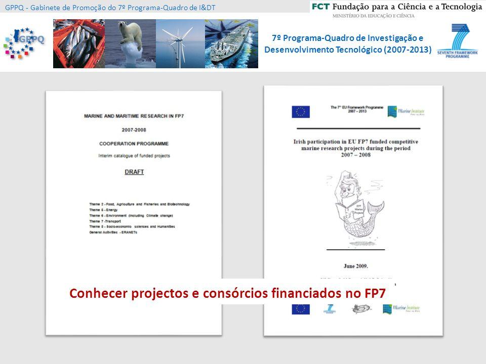 Conhecer projectos e consórcios financiados no FP7
