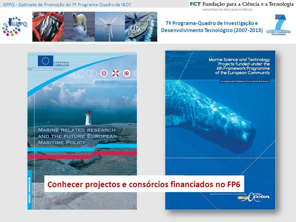 Conhecer projectos e consórcios financiados no FP6