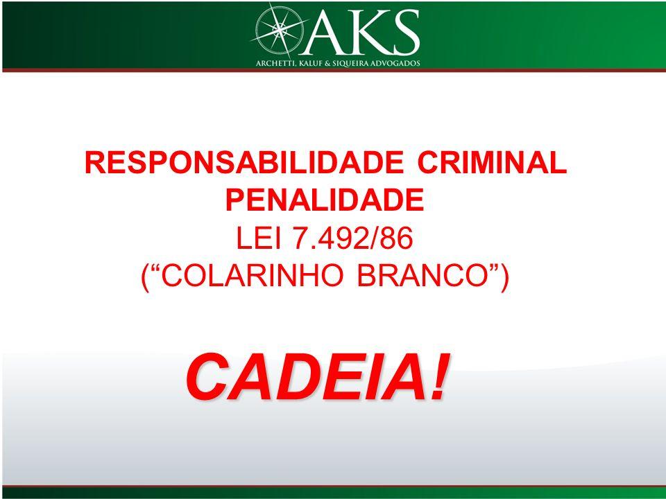 RESPONSABILIDADE CRIMINAL PENALIDADE