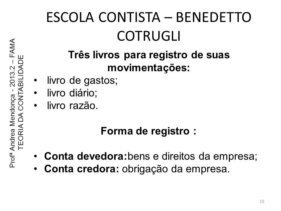 ESCOLA CONTISTA – BENEDETTO COTRUGLI