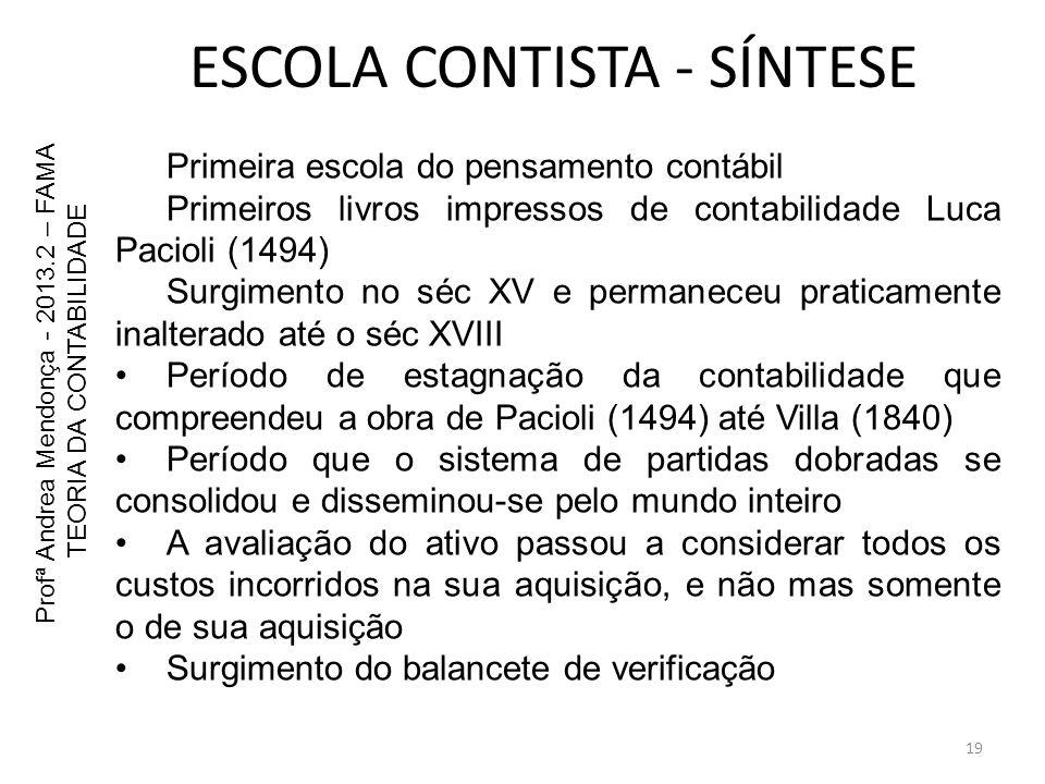 ESCOLA CONTISTA - SÍNTESE