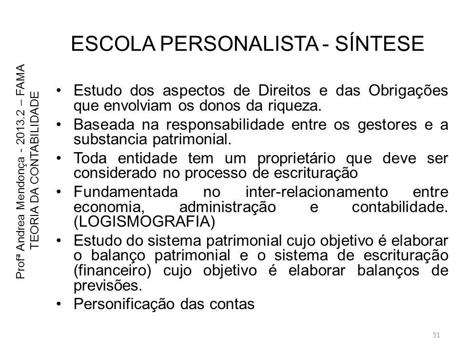 ESCOLA PERSONALISTA - SÍNTESE