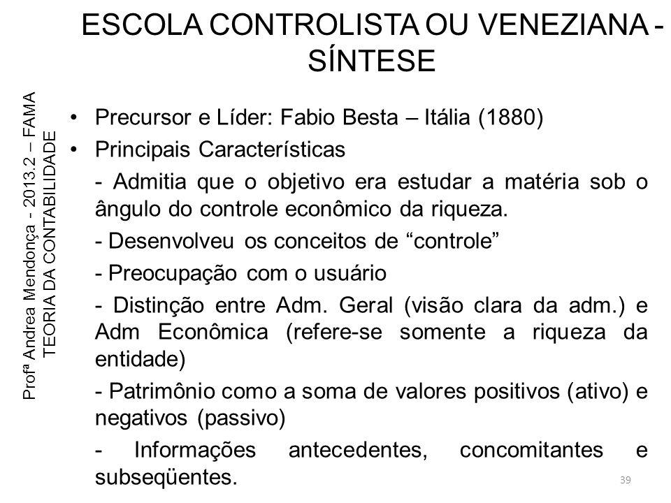 ESCOLA CONTROLISTA OU VENEZIANA - SÍNTESE