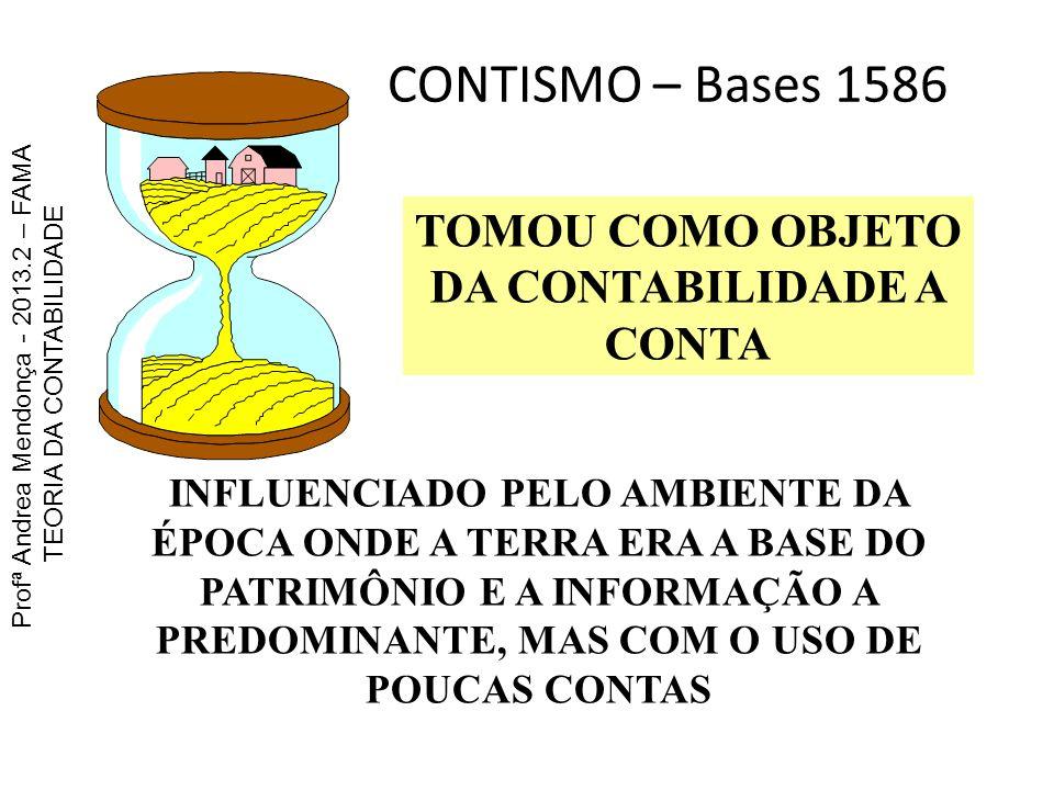TOMOU COMO OBJETO DA CONTABILIDADE A CONTA