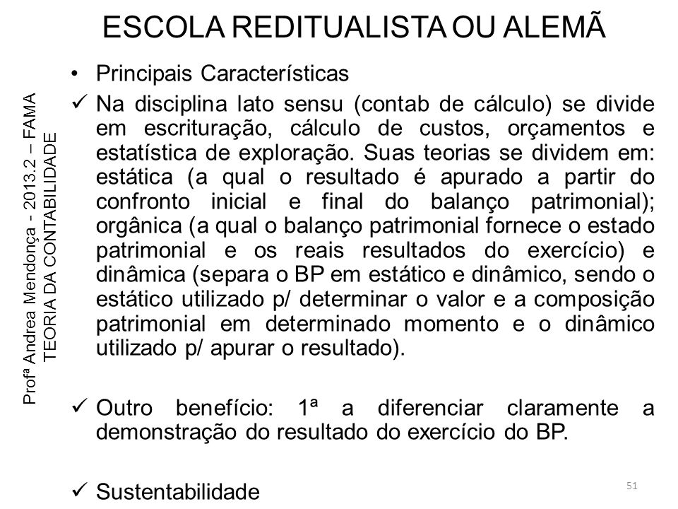 ESCOLA REDITUALISTA OU ALEMÃ