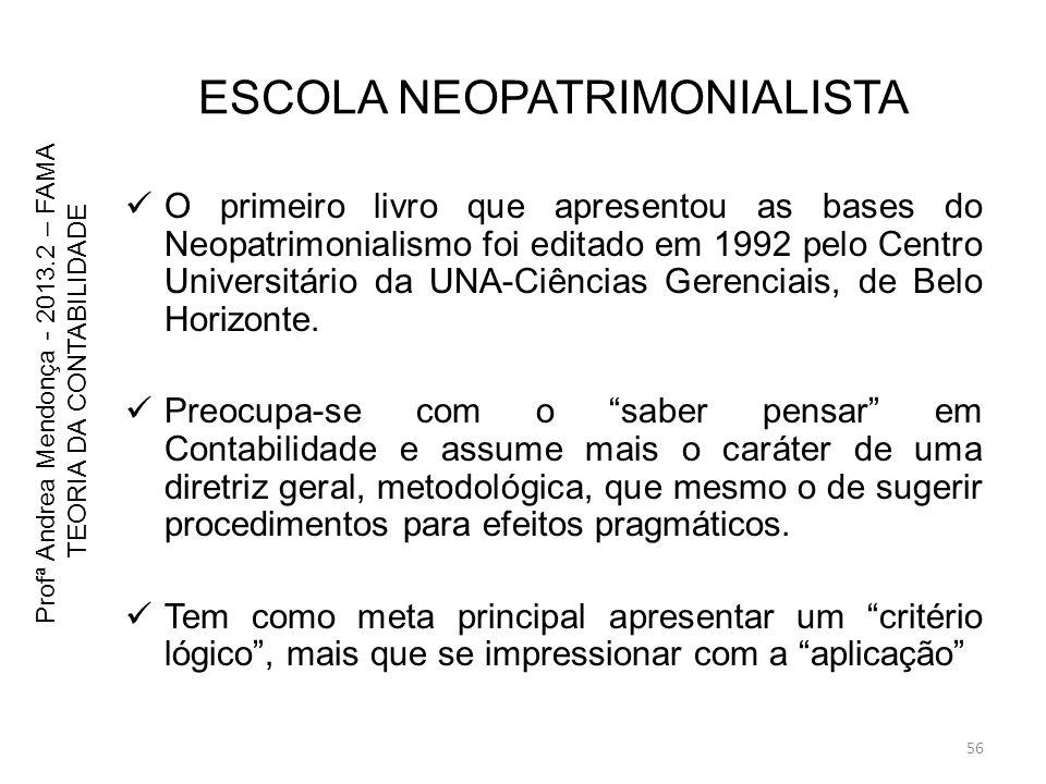 ESCOLA NEOPATRIMONIALISTA