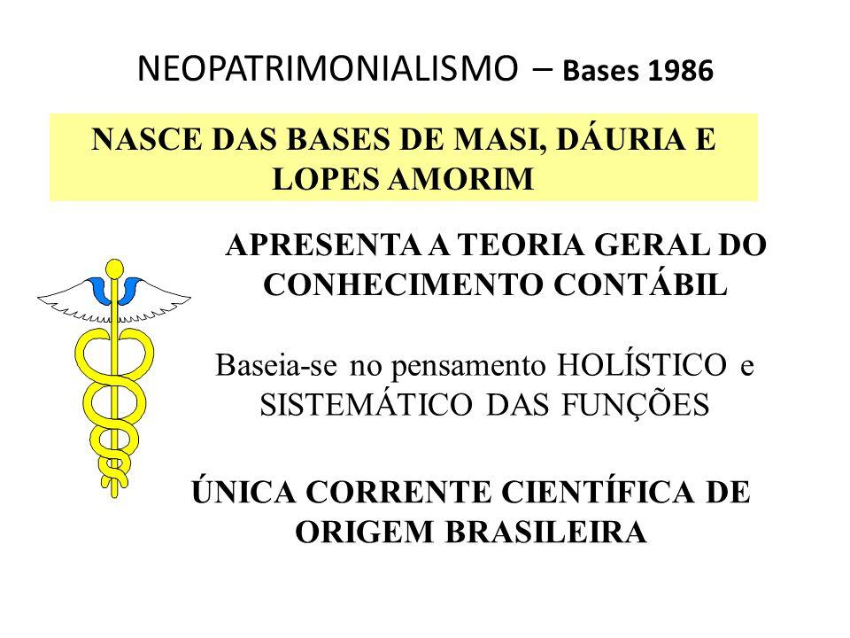 NEOPATRIMONIALISMO – Bases 1986