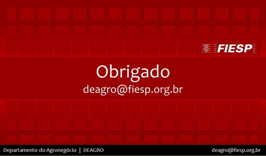 Obrigado deagro@fiesp.org.br deagro@fiesp.org.br