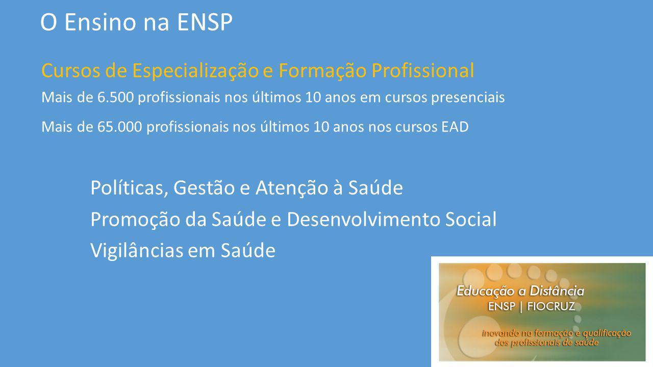 O Ensino na ENSP Cursos de Especialização e Formação Profissional