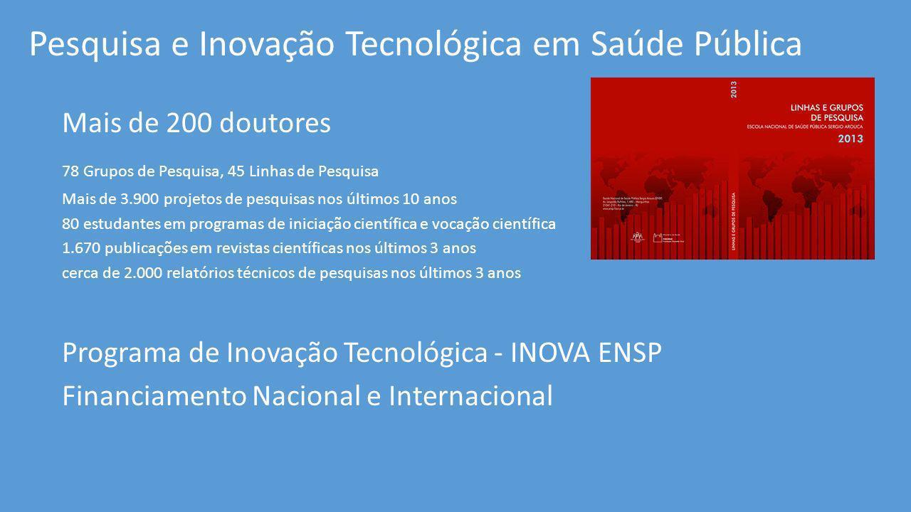 Pesquisa e Inovação Tecnológica em Saúde Pública