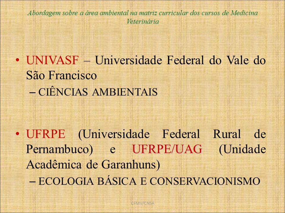UNIVASF – Universidade Federal do Vale do São Francisco