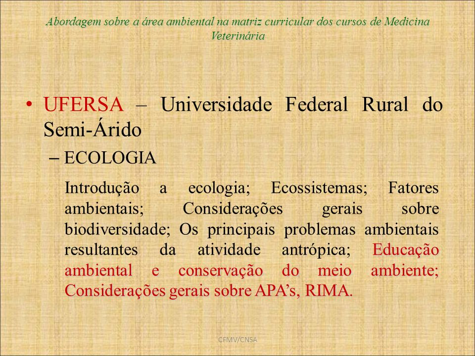 UFERSA – Universidade Federal Rural do Semi-Árido