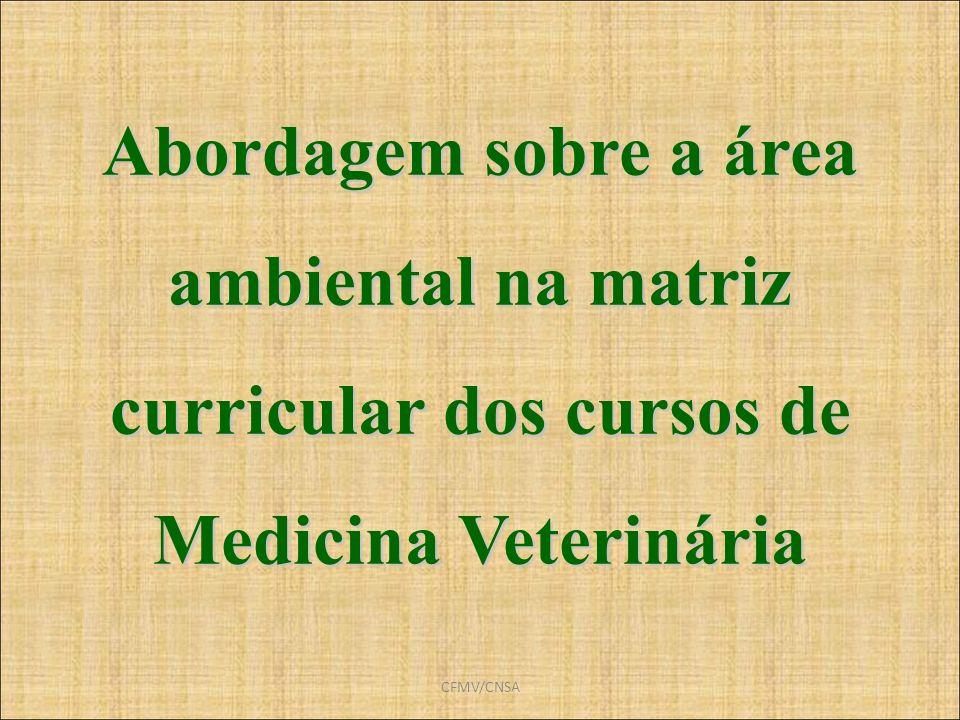 Abordagem sobre a área ambiental na matriz curricular dos cursos de Medicina Veterinária
