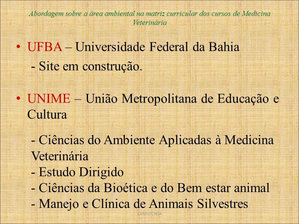UFBA – Universidade Federal da Bahia - Site em construção.