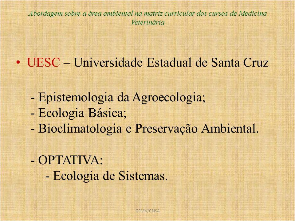 UESC – Universidade Estadual de Santa Cruz