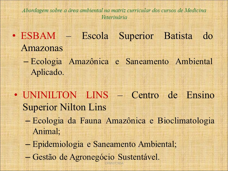 ESBAM – Escola Superior Batista do Amazonas