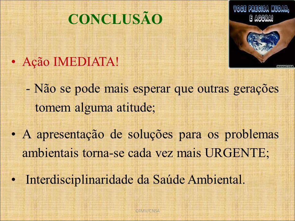 CONCLUSÃO Ação IMEDIATA!