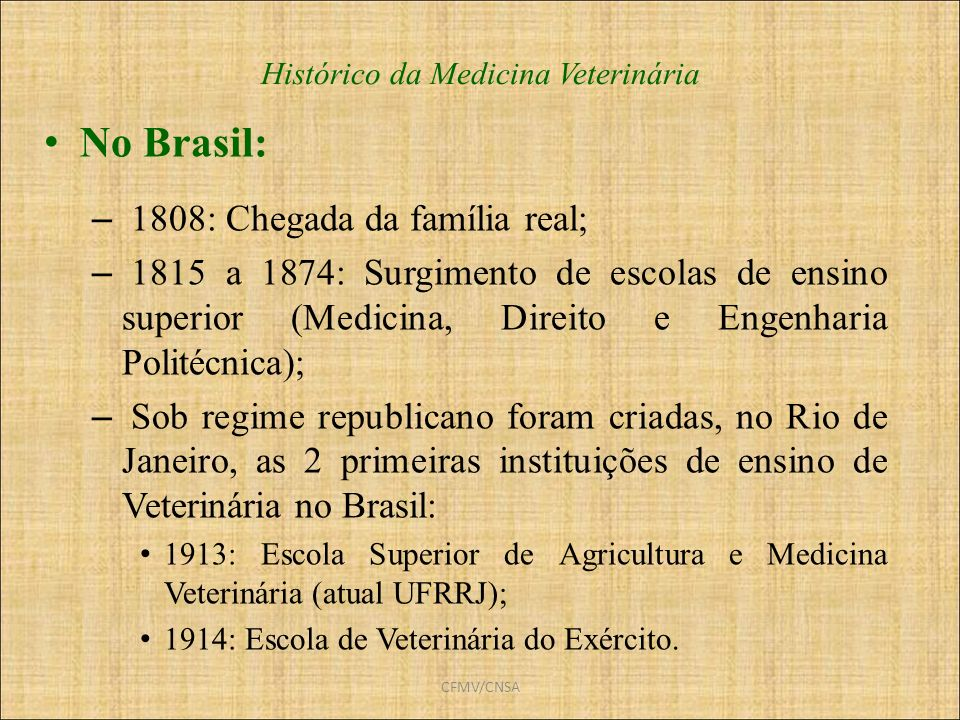 Histórico da Medicina Veterinária