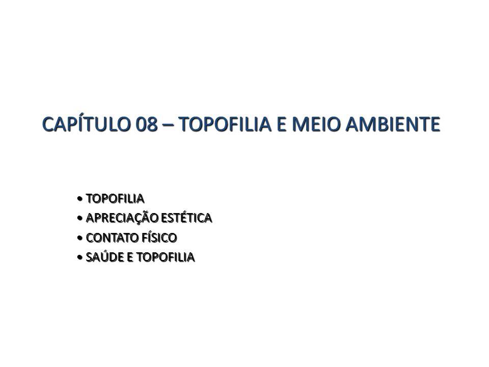 CAPÍTULO 08 – TOPOFILIA E MEIO AMBIENTE