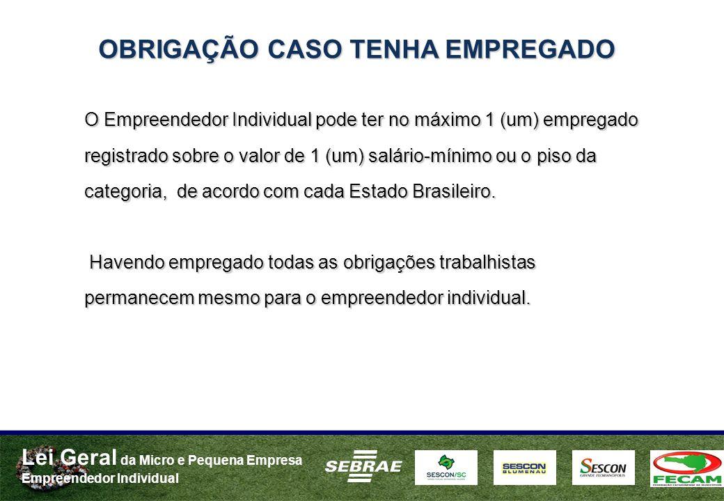 OBRIGAÇÃO CASO TENHA EMPREGADO