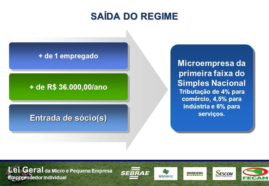 SAÍDA DO REGIME + de 1 empregado.
