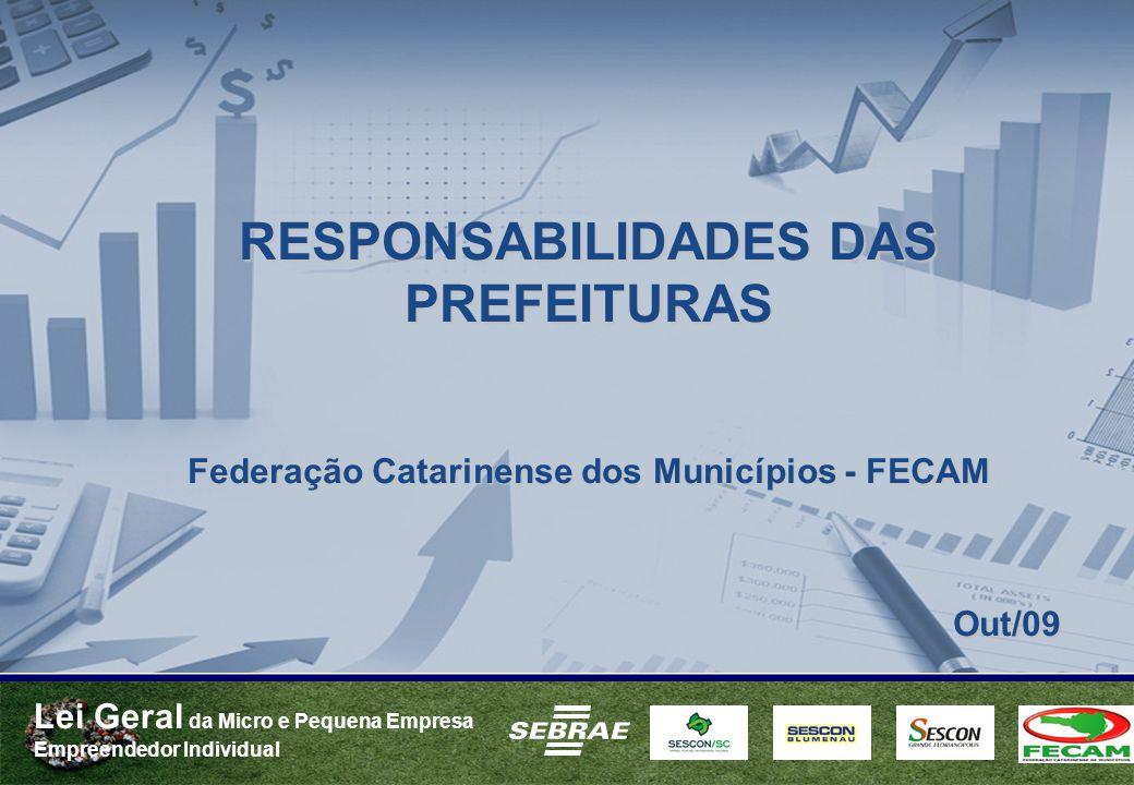 RESPONSABILIDADES DAS PREFEITURAS Out/09