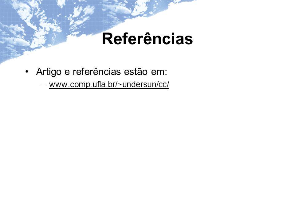 Referências Artigo e referências estão em: