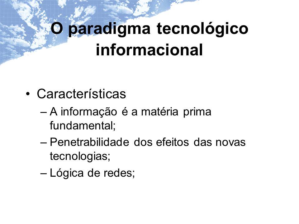 O paradigma tecnológico informacional