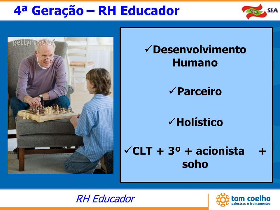 Desenvolvimento Humano CLT + 3º + acionista + soho