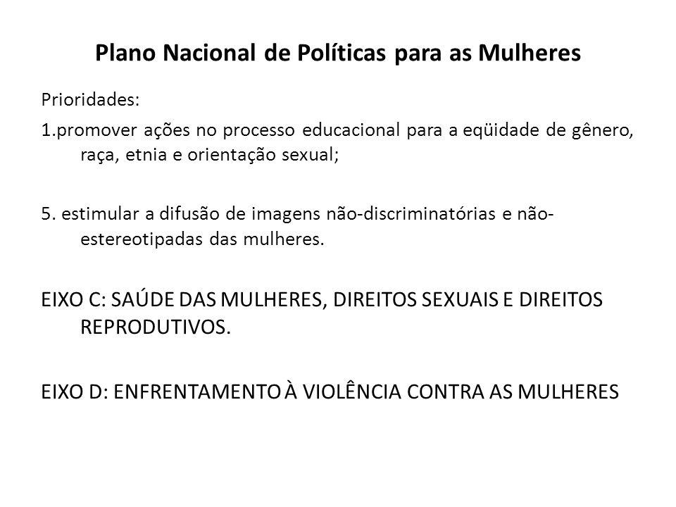 Plano Nacional de Políticas para as Mulheres