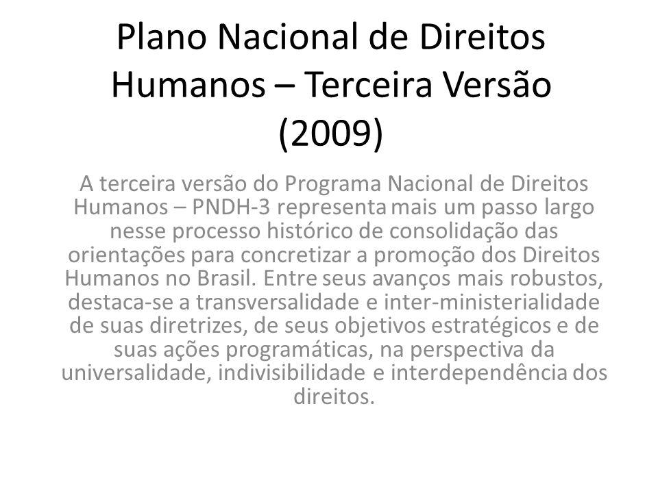 Plano Nacional de Direitos Humanos – Terceira Versão (2009)