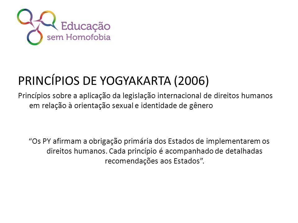 PRINCÍPIOS DE YOGYAKARTA (2006)