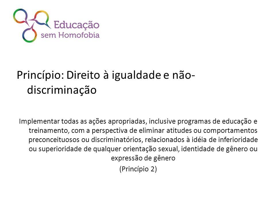 Princípio: Direito à igualdade e não-discriminação
