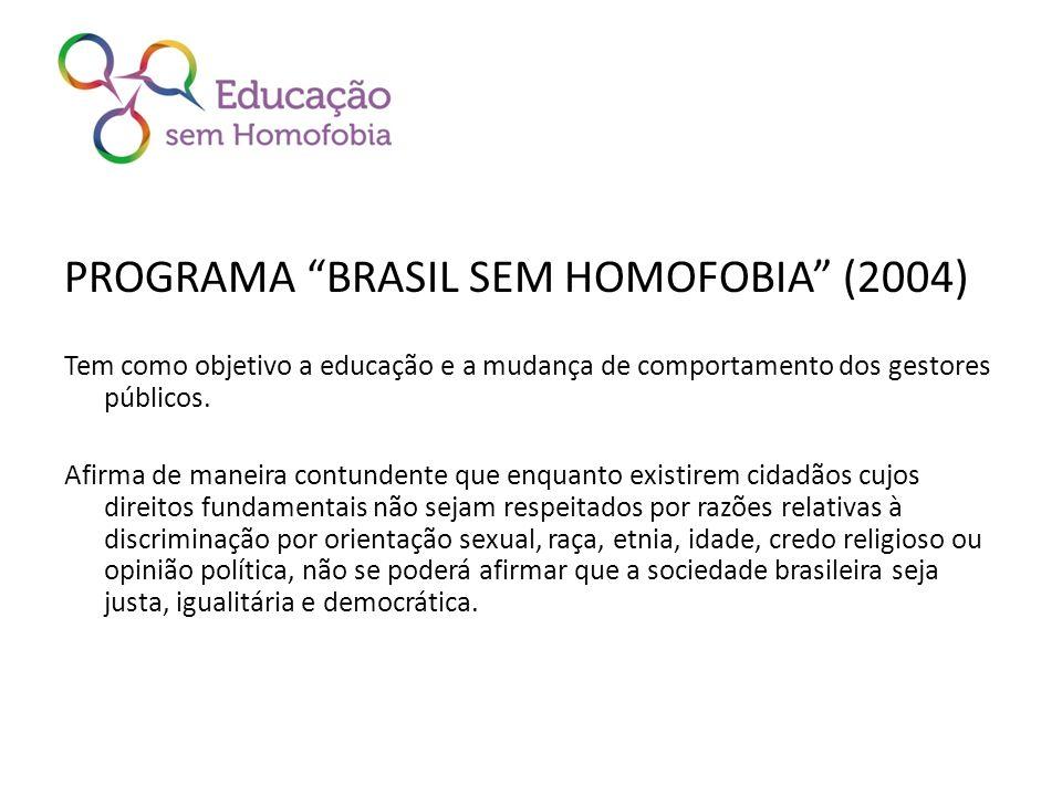 PROGRAMA BRASIL SEM HOMOFOBIA (2004)