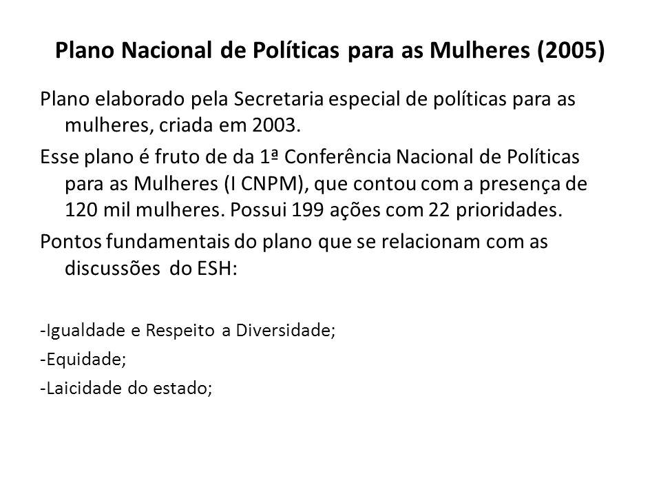 Plano Nacional de Políticas para as Mulheres (2005)