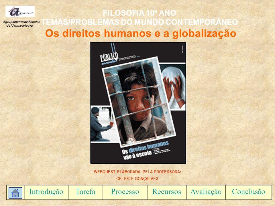 FILOSOFIA 10º ANO TEMAS/PROBLEMAS DO MUNDO CONTEMPORÂNEO
