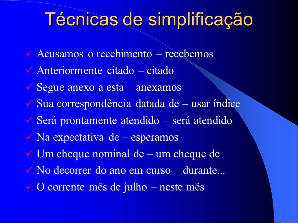 Técnicas de simplificação