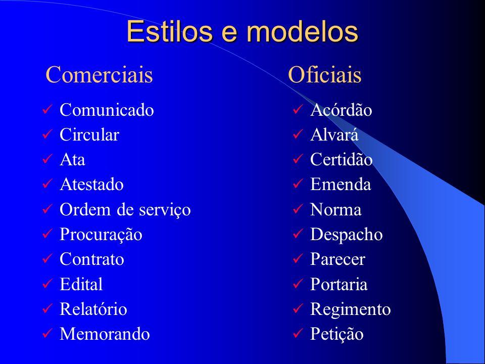 Estilos e modelos Comerciais Oficiais Comunicado Circular Ata Atestado