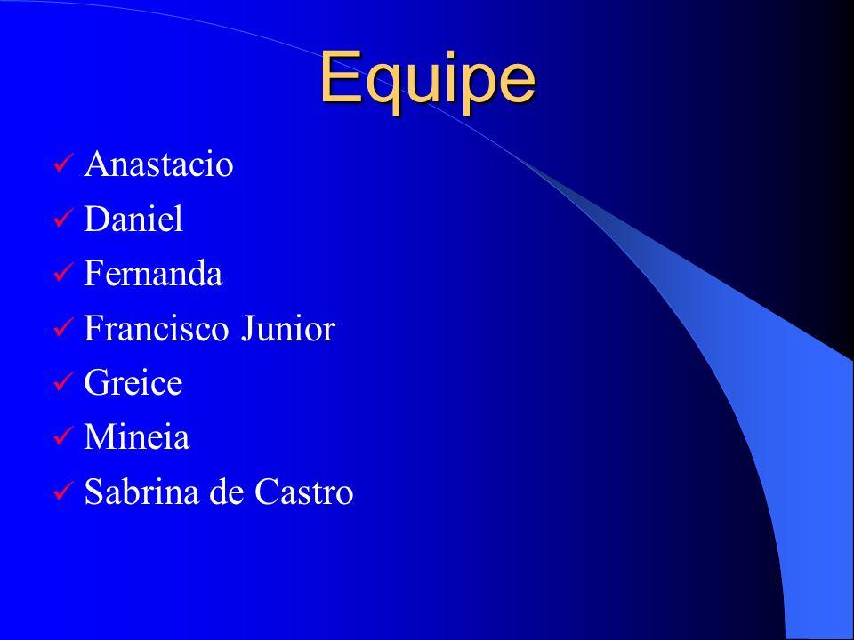 Equipe Anastacio Daniel Fernanda Francisco Junior Greice Mineia