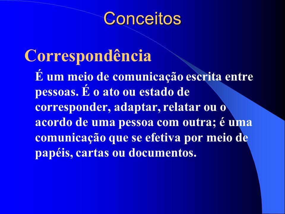 Conceitos Correspondência