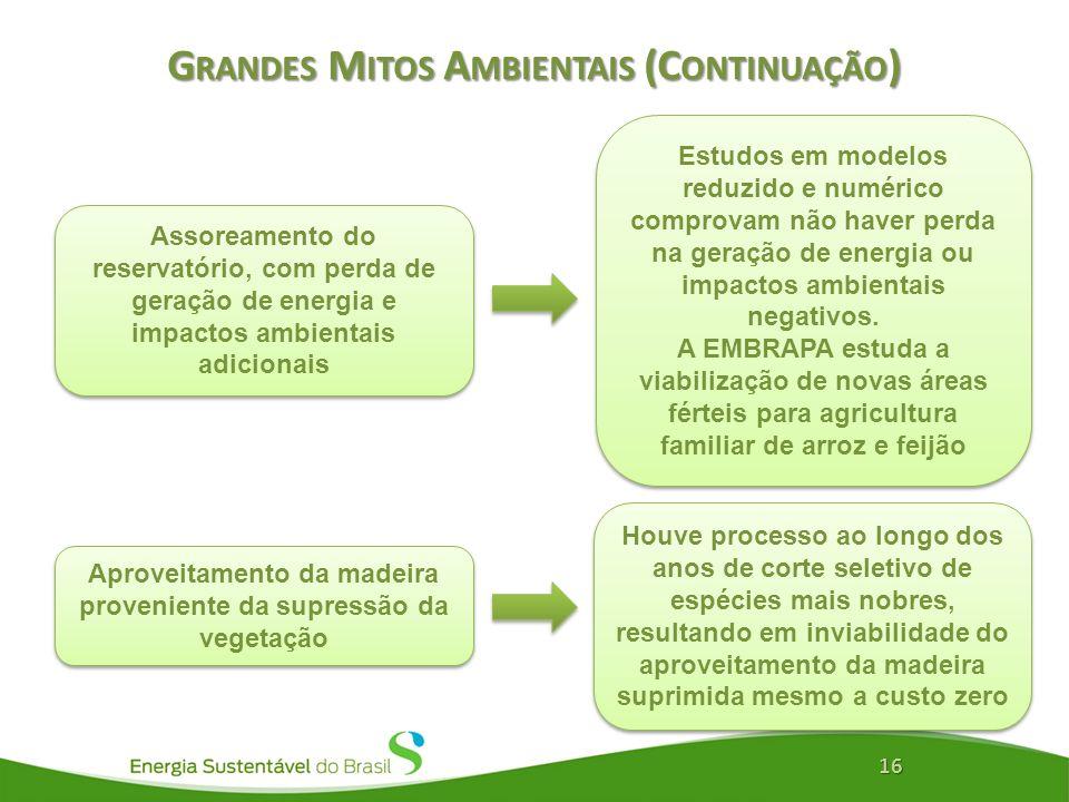 Grandes Mitos Ambientais (Continuação)
