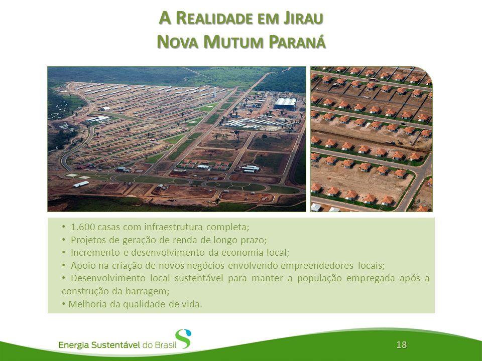 A Realidade em Jirau Nova Mutum Paraná